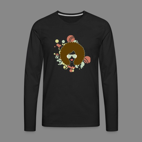Brown Afro (Abstract) - Men's Premium Long Sleeve T-Shirt