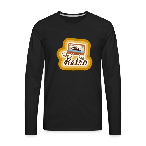 Retro-Cassette - Men's Premium Long Sleeve T-Shirt