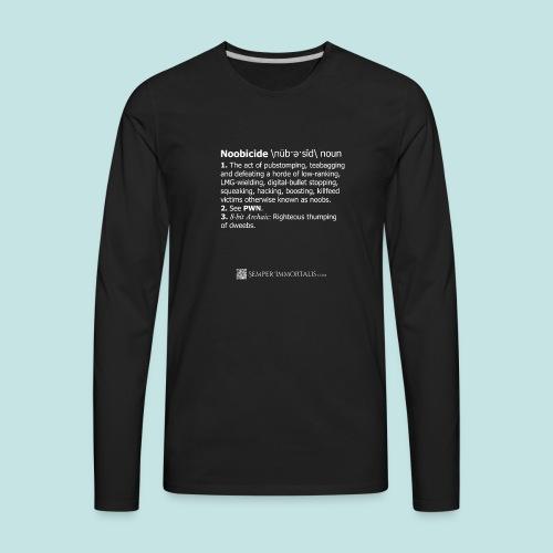 Noobicide (white) - Men's Premium Long Sleeve T-Shirt