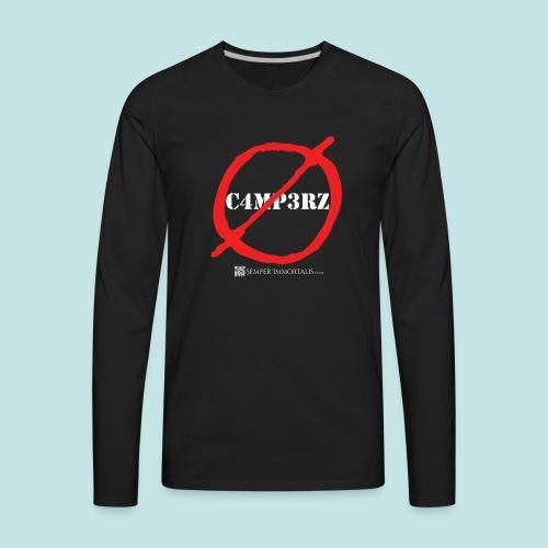 No Campers (white) - Men's Premium Long Sleeve T-Shirt