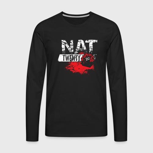 NAT 20 RPG Tee - Men's Premium Long Sleeve T-Shirt