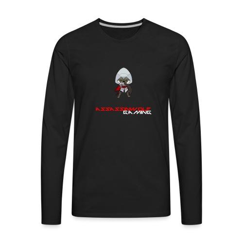 heather gray assassinwolf Tee - Men's Premium Long Sleeve T-Shirt