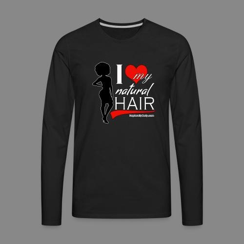 Love Natural Hair (Afro) - Men's Premium Long Sleeve T-Shirt