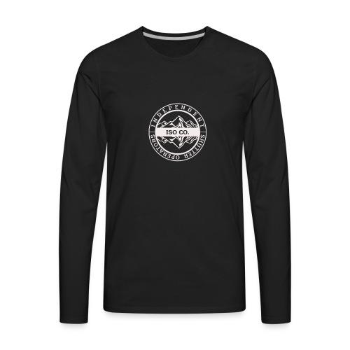 ISO Co. White Classic Emblem - Men's Premium Long Sleeve T-Shirt