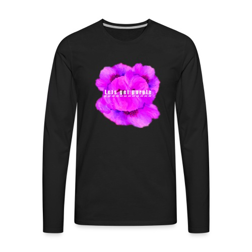 lets_get_purple_2 - Men's Premium Long Sleeve T-Shirt
