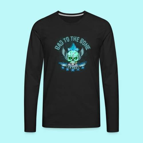 Bad to the bone blue hoodie - Men's Premium Long Sleeve T-Shirt