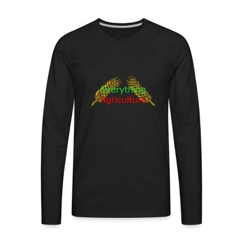 Everything Agriculture LOGO - Men's Premium Long Sleeve T-Shirt