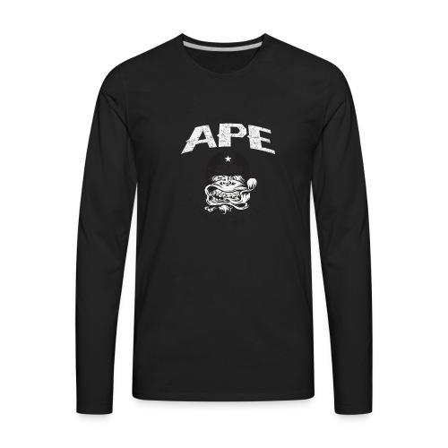 The_Two_Wheeled_Ape_Full_Throttle - Men's Premium Long Sleeve T-Shirt