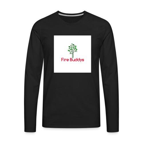 Fire Buddys Website Logo White Tee-shirt eco - Men's Premium Long Sleeve T-Shirt