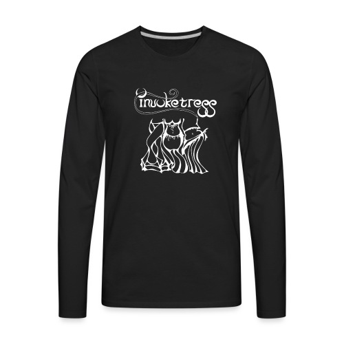 Invoketress Bellies Logo in White - Men's Premium Long Sleeve T-Shirt