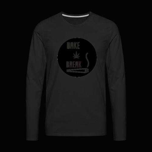 Bake Break Logo Cutout - Men's Premium Long Sleeve T-Shirt