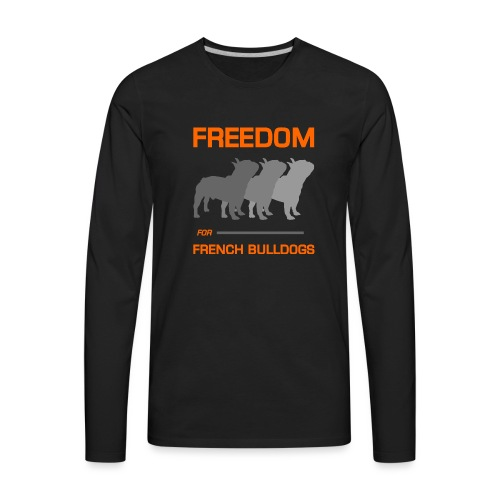 French Bulldogs - Men's Premium Long Sleeve T-Shirt