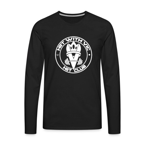 QueenV HIIT Club White - Men's Premium Long Sleeve T-Shirt