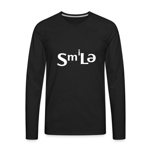 Smile Abstract Design - Men's Premium Long Sleeve T-Shirt