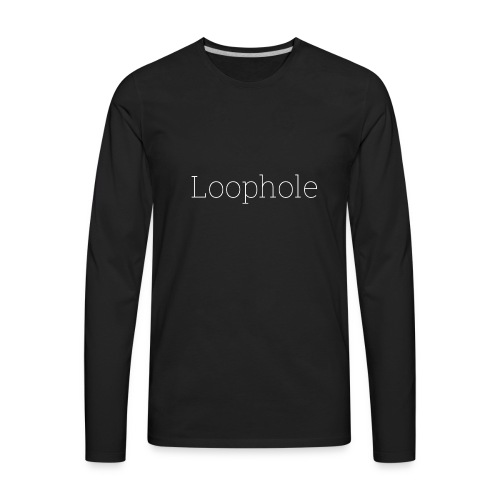 Loophole Abstract Design. - Men's Premium Long Sleeve T-Shirt