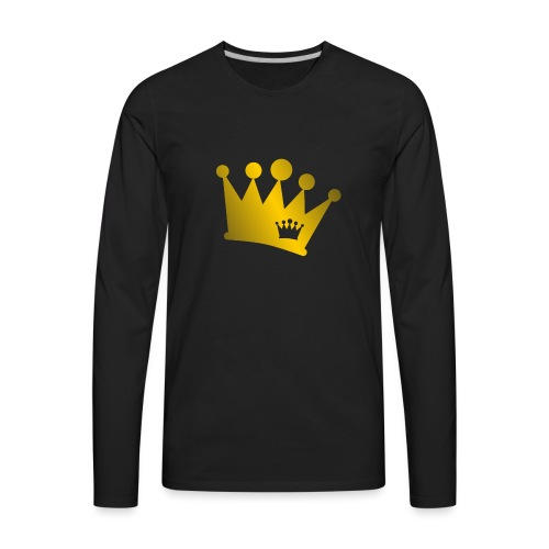 Double Crown gold - Men's Premium Long Sleeve T-Shirt
