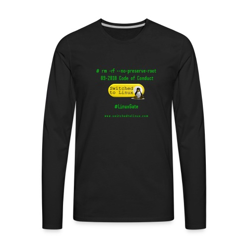 rm Linux Code of Conduct - Men's Premium Long Sleeve T-Shirt