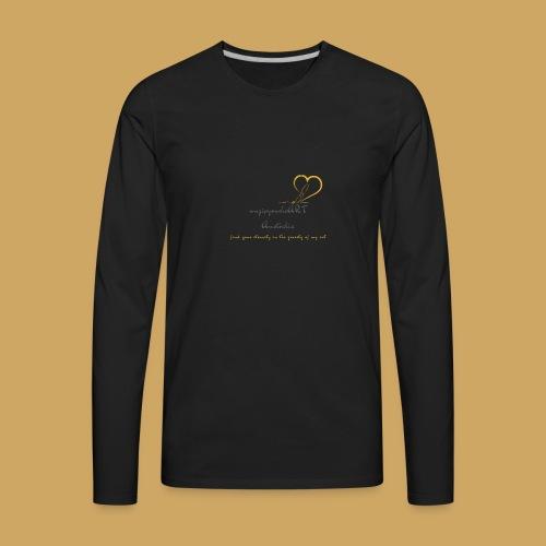 unzipyourheART - Men's Premium Long Sleeve T-Shirt