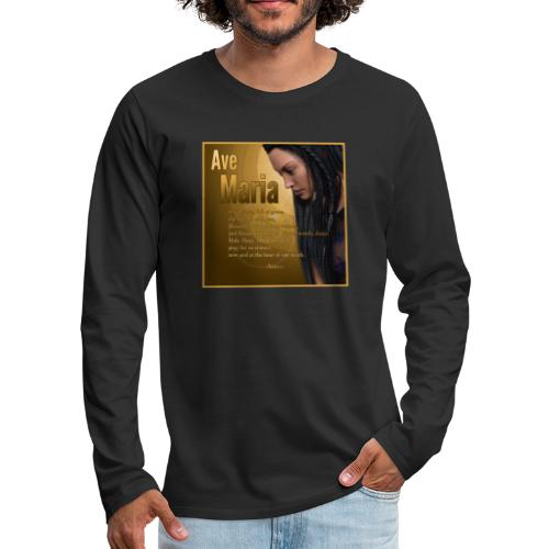 Hail Mary - Ave Maria - The prayer in English - Men's Premium Long Sleeve T-Shirt