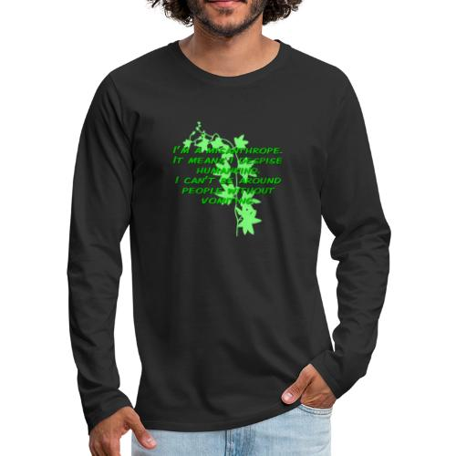 GO GREEN! - Men's Premium Long Sleeve T-Shirt