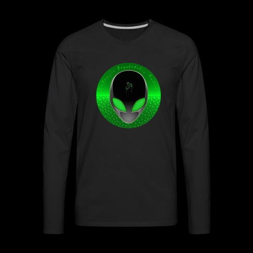 Psychedelic Alien Dolphin Green Cetacean Inspired - Men's Premium Long Sleeve T-Shirt