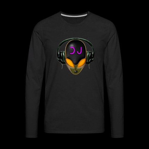 Alien DJ - Orange - Hard Shell Bug - Men's Premium Long Sleeve T-Shirt
