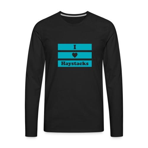 Haystacks Blue - Men's Premium Long Sleeve T-Shirt