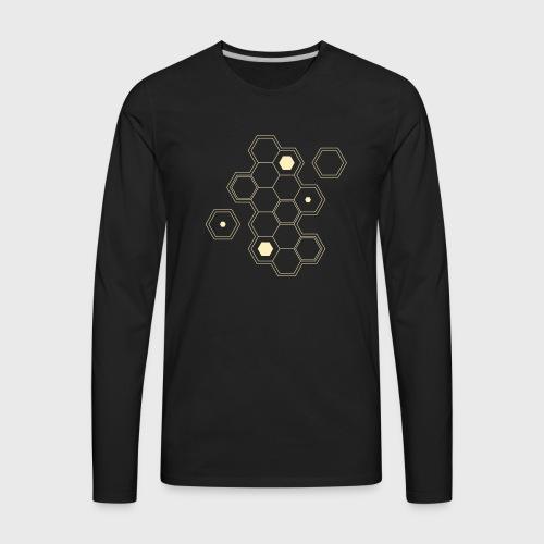 gamer,dnd dungeons and dragons,board game,hexagon, - Men's Premium Long Sleeve T-Shirt