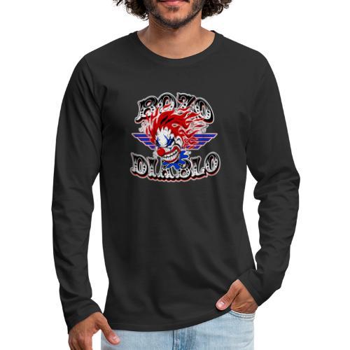 Bozo Diablo Crazy Clown Illustration - Men's Premium Long Sleeve T-Shirt