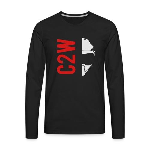 ChaseOnTwoWheels Split Logo - Men's Premium Long Sleeve T-Shirt