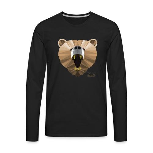 Hungry Bear Women's V-Neck T-Shirt - Men's Premium Long Sleeve T-Shirt