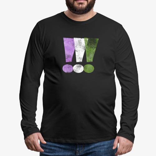 Genderqueer Pride Exclamation Points - Men's Premium Long Sleeve T-Shirt
