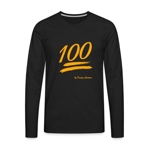 100 ORANGE - Men's Premium Long Sleeve T-Shirt