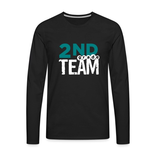 Bold 2nd Grade Team Teacher T Shirts - Men's Premium Long Sleeve T-Shirt