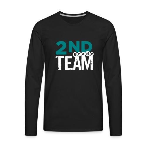 Bold 2nd Grade Team Teacher T Shirts - Men's Premium Long Sleeve T-Shirt
