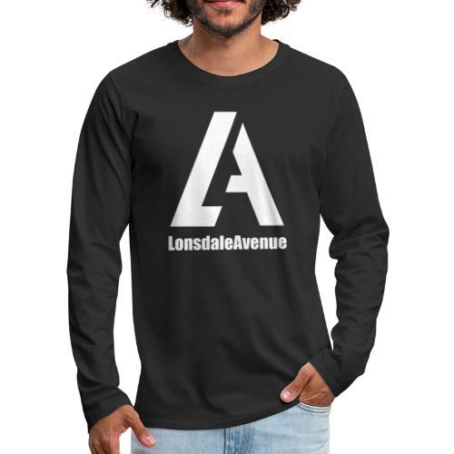Lonsdale Avenue Logo White Text - Men's Premium Long Sleeve T-Shirt