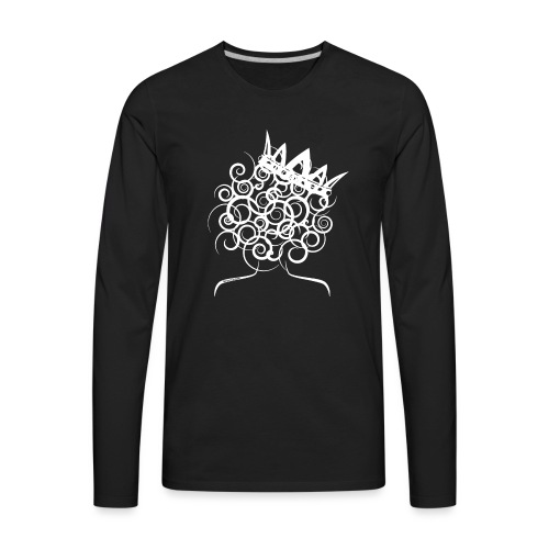 Curly Queen with Crown_ GlobalCouture Women's T-Sh - Men's Premium Long Sleeve T-Shirt