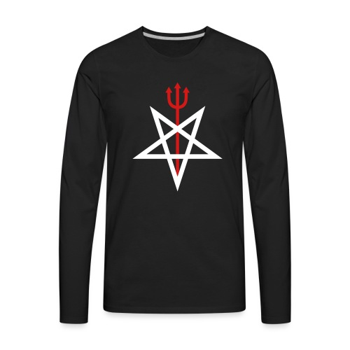 Pitchfork Pentagram - Men's Premium Long Sleeve T-Shirt