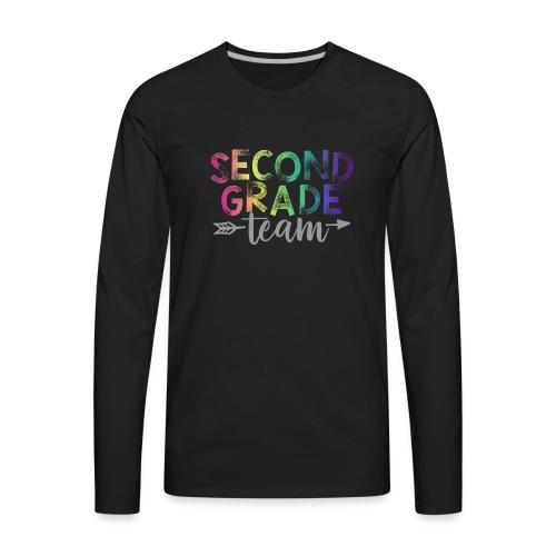 Second Grade Team Teacher T-Shirts Rainbow - Men's Premium Long Sleeve T-Shirt
