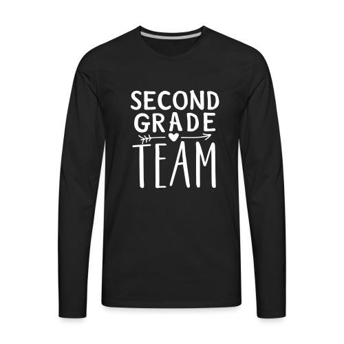 Second Grade Team Teacher T-Shirts - Men's Premium Long Sleeve T-Shirt