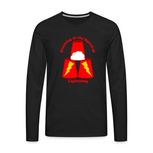 Sport Stacking: Stacking at the Speed of Lightning - Men's Premium Long Sleeve T-Shirt