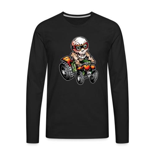 Off-Road ATV Skull Rider - Men's Premium Long Sleeve T-Shirt