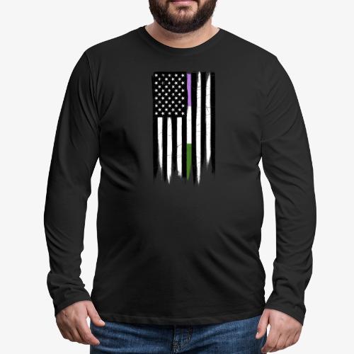 Genderqueer Thin Line American Flag - Men's Premium Long Sleeve T-Shirt