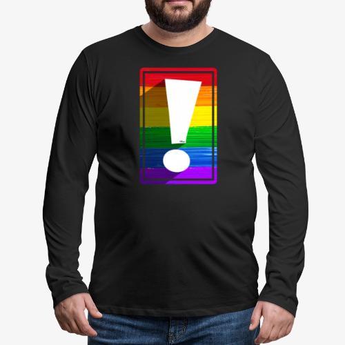 LGBTQ Pride Exclamation Point - Men's Premium Long Sleeve T-Shirt