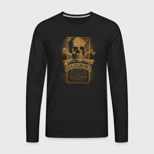 Laudanum Goth Steampunk Medical Doctor - Men's Premium Long Sleeve T-Shirt