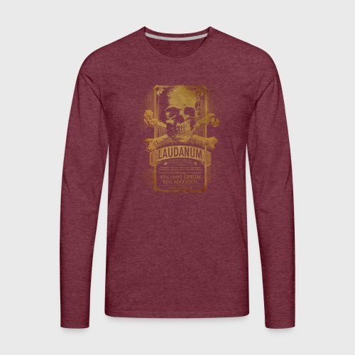 Laudanum Goth Steampunk Medical Doctor - Men's Premium Long Sleeve T-Shirt