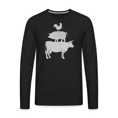 Pyramid Print2 - Men's Premium Long Sleeve T-Shirt
