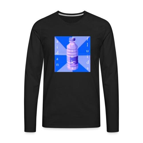 Aidan Drinks Fluids Logo - Men's Premium Long Sleeve T-Shirt