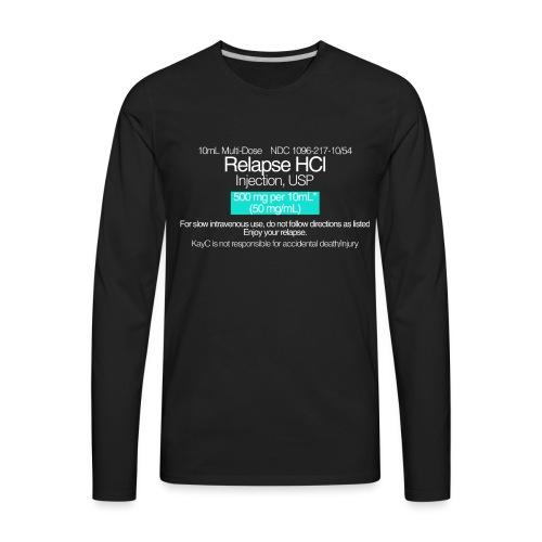 Relapse // WHITE - Men's Premium Long Sleeve T-Shirt