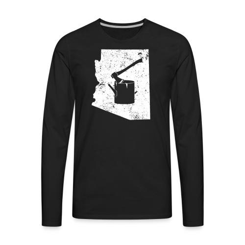 Axe T Shirt Logging Work Shirt Arizona Shirt - Men's Premium Long Sleeve T-Shirt